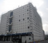 大型倉庫 クサビ足場 清水