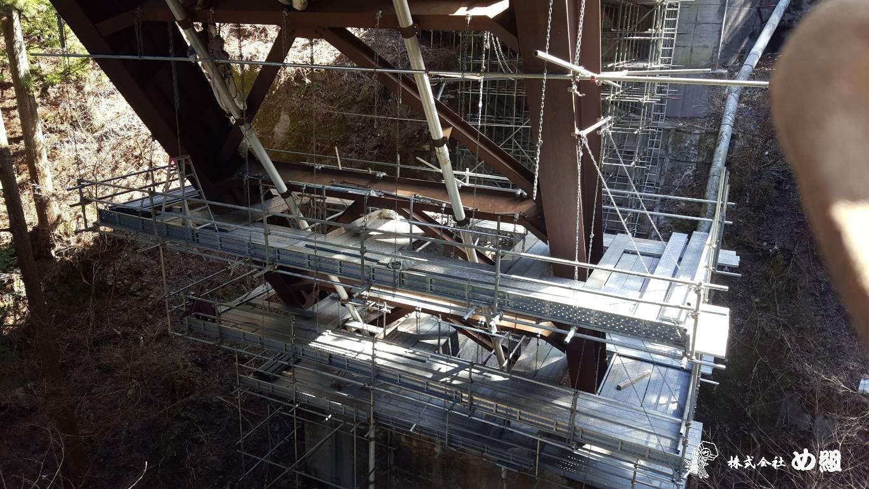 橋梁吊り足場 仮設工事